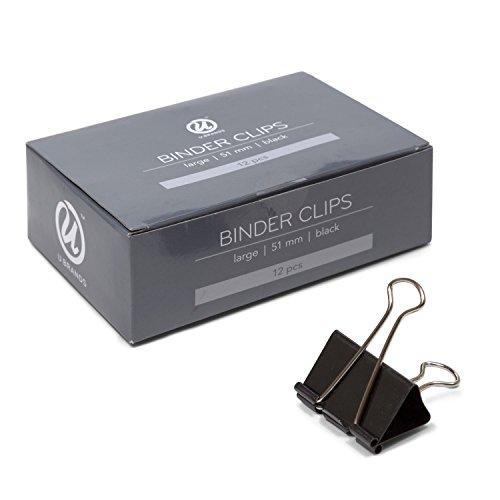 U Brands Binder Clips, Medium 1-1/4-Inch Width, 1/2-Inch