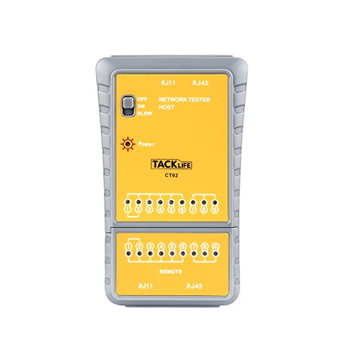 package contents - tacklife ct02 cable tester, 1 x 9v battery, english  manual, 24 months warranty  s