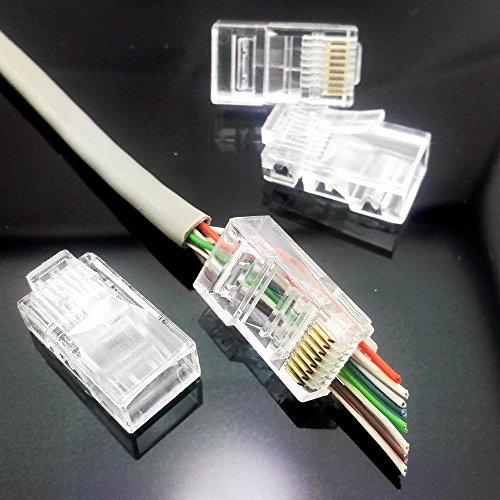 20 Pack Cess Cat5 Cat5e Rj45 Connectors Network Cable