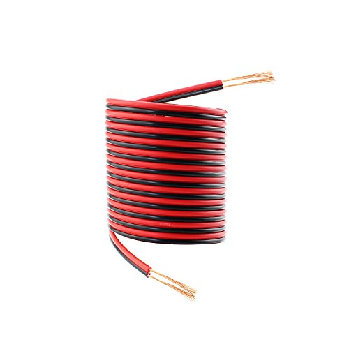 sim nat 33ft red black hookup wire 18 awg audio cable 2 conductor electric speaker cable for. Black Bedroom Furniture Sets. Home Design Ideas