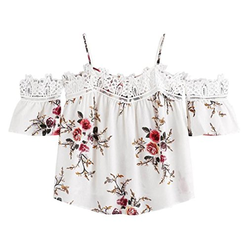 Women S Tops Neartime Women Short Sleeve Lace Floral Blouse Casual T