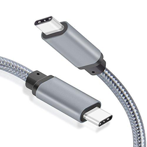 WGGE METAL USB C 3 1 Type-C to USB C 3 1 Type-C Cable Nylon
