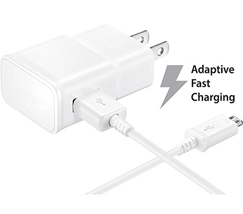 Certified Refurbished 2 Pack Samsung Black OEM Adaptive Fast Rapid Wall Charger and Type-C USB Cable for Samsung Galaxy S8 Active