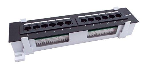 CNAweb 12 Port Vertical Cat5e 110 RJ45 Patch Panel 568A ...